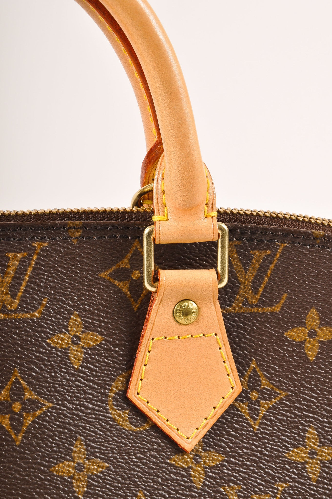 "Louis Vuitton Brown Monogram Canvas ""Alma PM"" Handbag Detail 2"