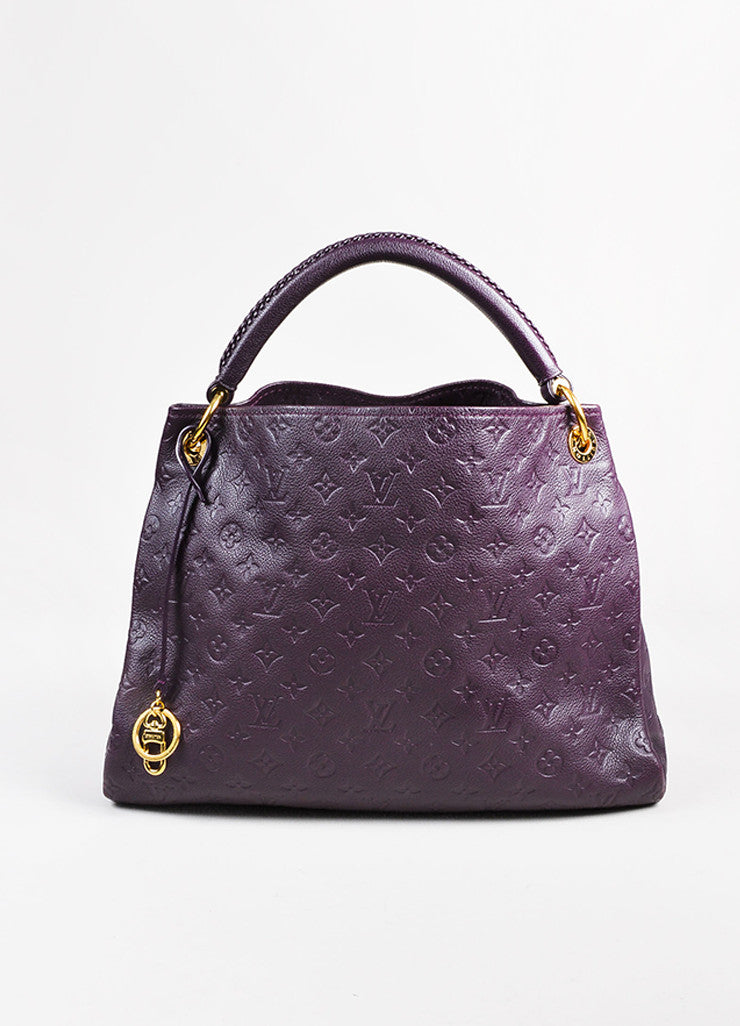 Louis Vuitton Aubergine Purple Monogram Empreinte Leather Artsy MM Bag Front