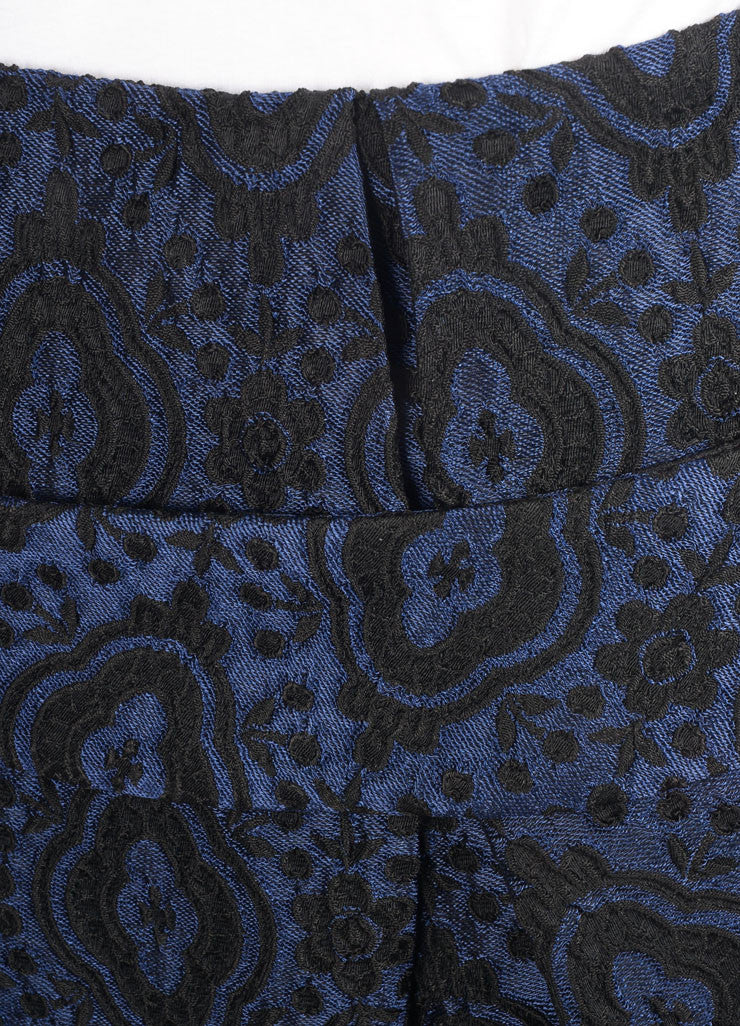 Thakoon Blue and Black Brocade Bubble Skirt Detail