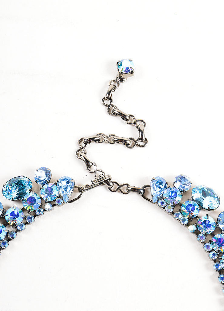 Chrome Toned and Blue Timothy Szlyk Thorin & Co. Rhinestone Necklace Closure