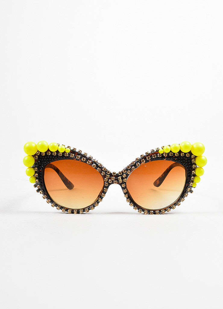 "Yellow Tortoise Shell A-morir ""Mitchell"" Sunglasses Front 2"