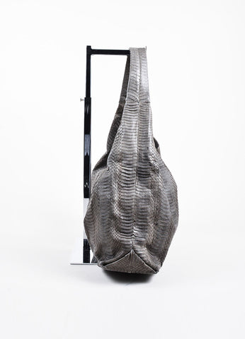Grey Adriana Castro  Python Oversized Hobo Bag Sideview