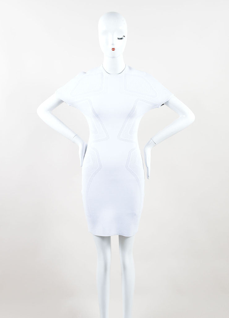 Alexander Wang White Short Sleeve Bodycon Dress Front