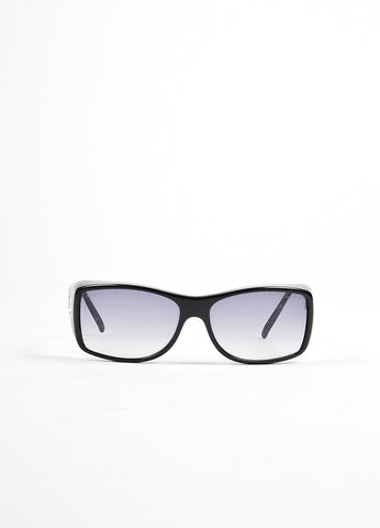 "Chanel Black Square Lenses ""5068"" Sunglasses Frontview"