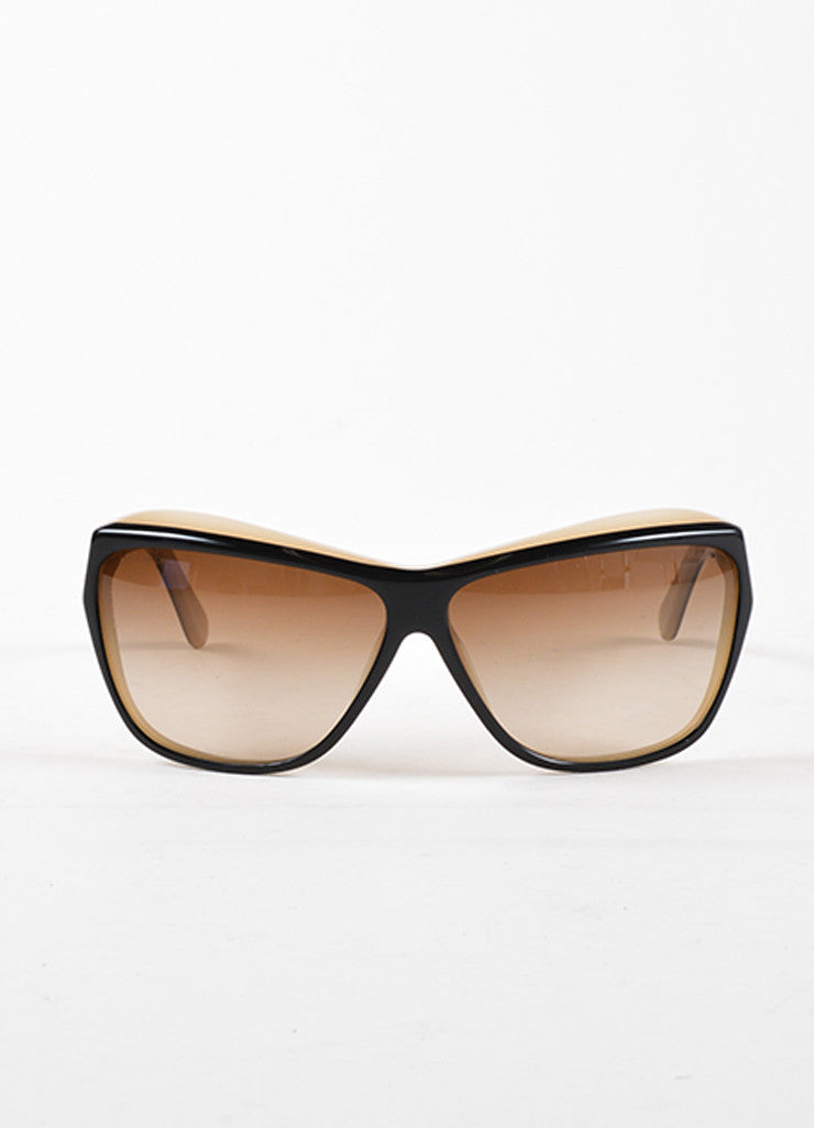 "Chanel Black and Taupe Plastic Gradient Lens ""5153"" Sunglasses Frontview"