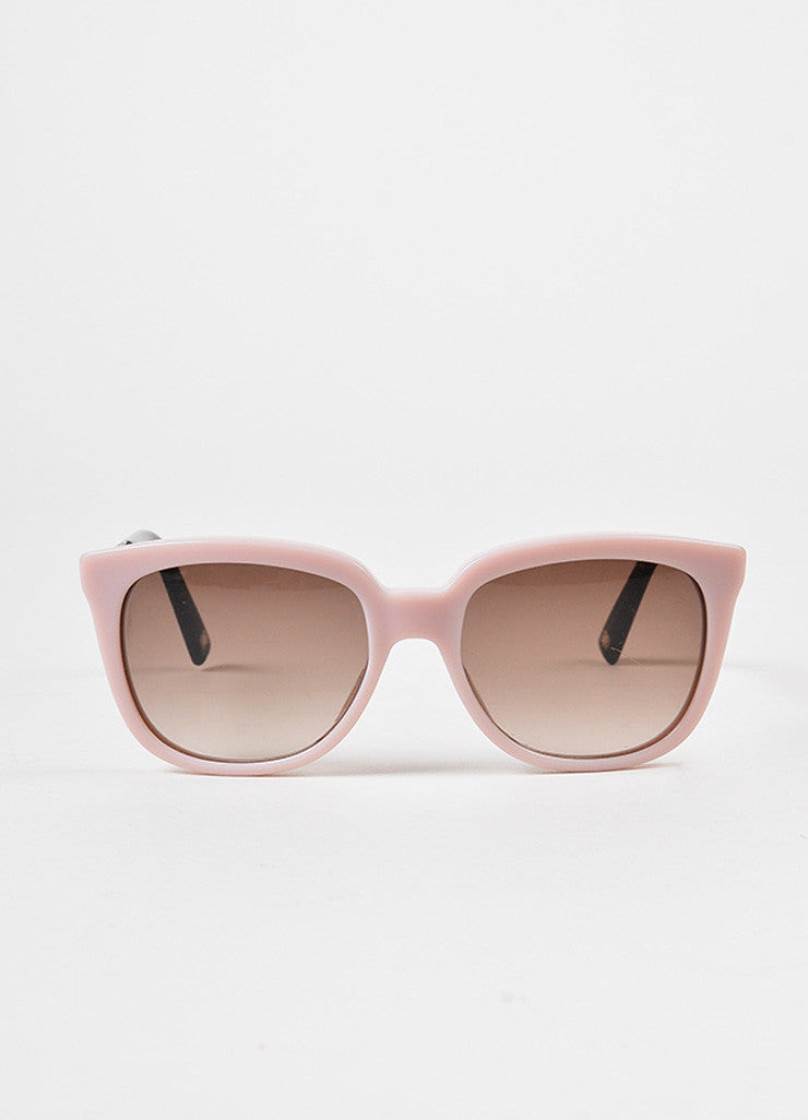"Christian Dior Pink Gold Tone ""Dior Ever 2"" Sunglasses Front 2"