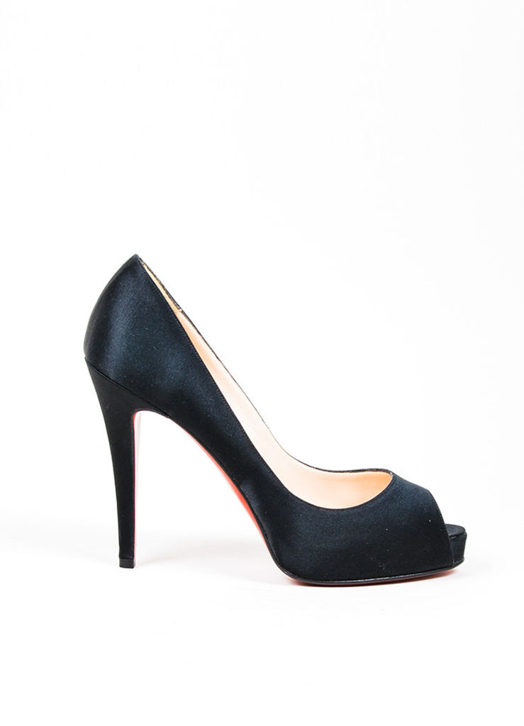 cheap christian louboutin black satin peep toe fac48 a022a rh arcadeabit com