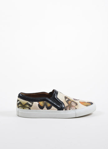 Multicolor Givenchy Leather Python Trim Butterfly Slide On Sneakers Sideview