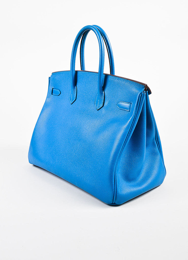 "Hermes Bleu de Galice Epsom Leather Palladium Hardware ""Birkin"" Bag Back"