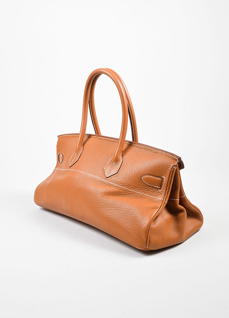 Caramel Tan Hermes JPG for Hermes Leather 42cm Birkin Side