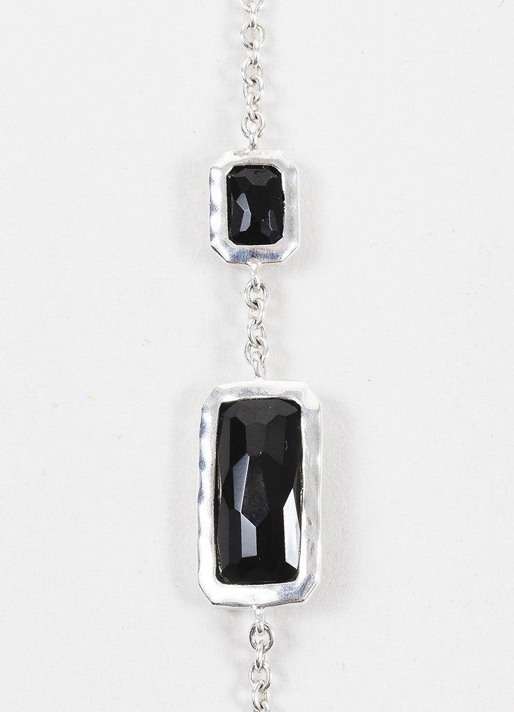 "Ippolita Sterling Silver and Black Onyx ""Rock Candy"" 36"" Strand Necklace Detail"