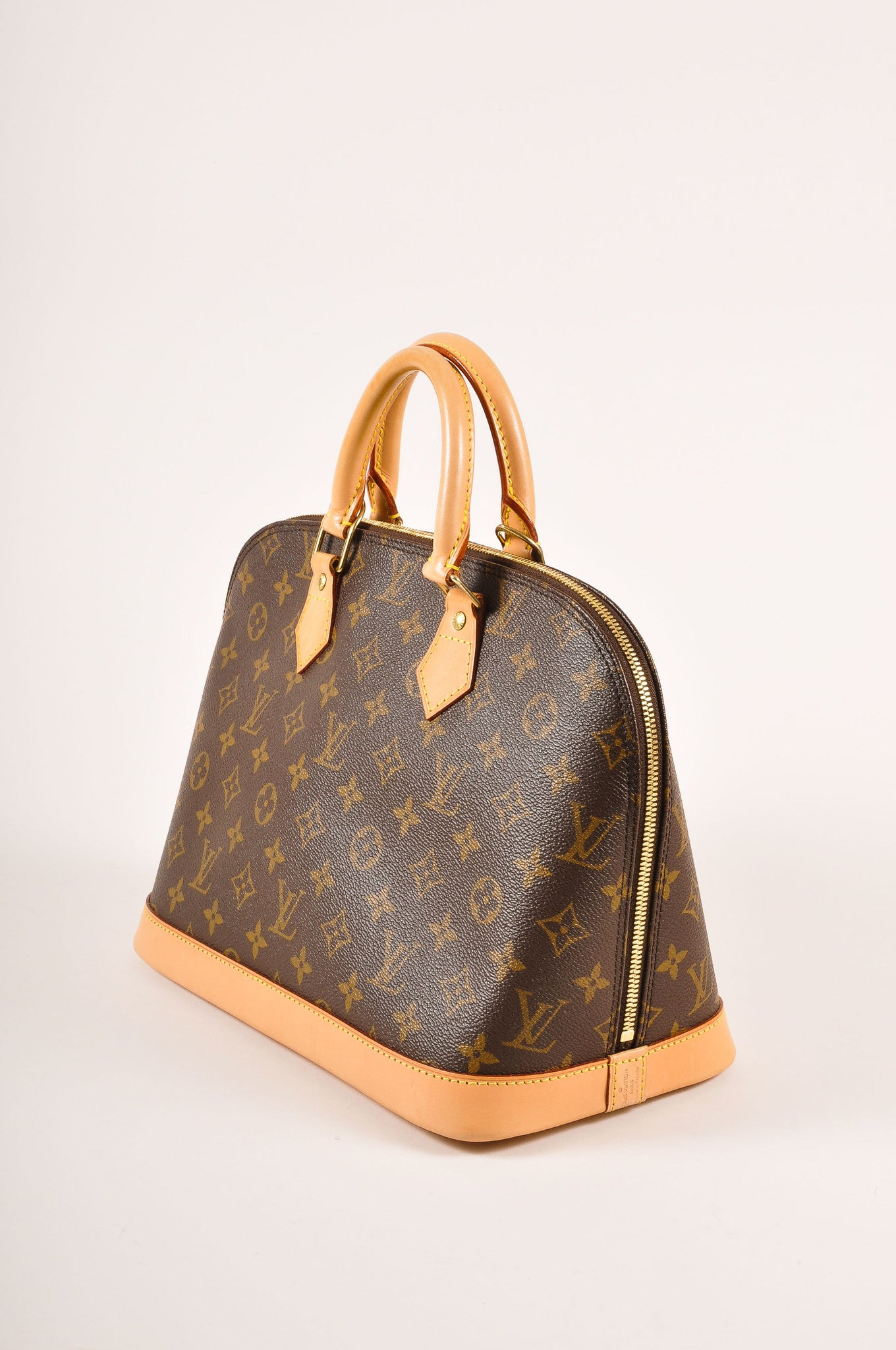 "Louis Vuitton Brown Monogram Canvas ""Alma PM"" Handbag Sideview"