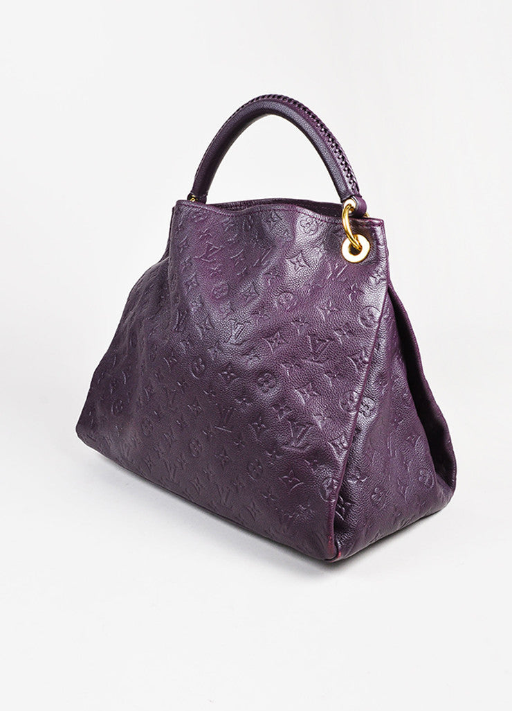 Louis Vuitton Aubergine Purple Monogram Empreinte Leather Artsy MM Bag Back