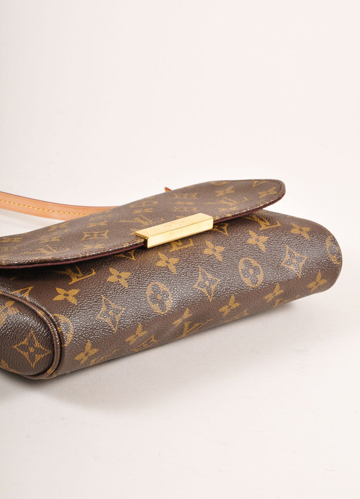 Louis Vuitton Monogram Canvas Favorite MM Shoulder Bag Bottom View