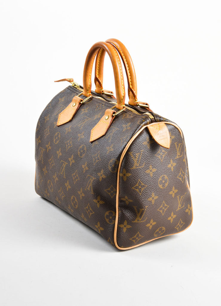 "Louis Vuitton Brown Monogram Canvas 25cm ""Speedy"" Bag Sideview"