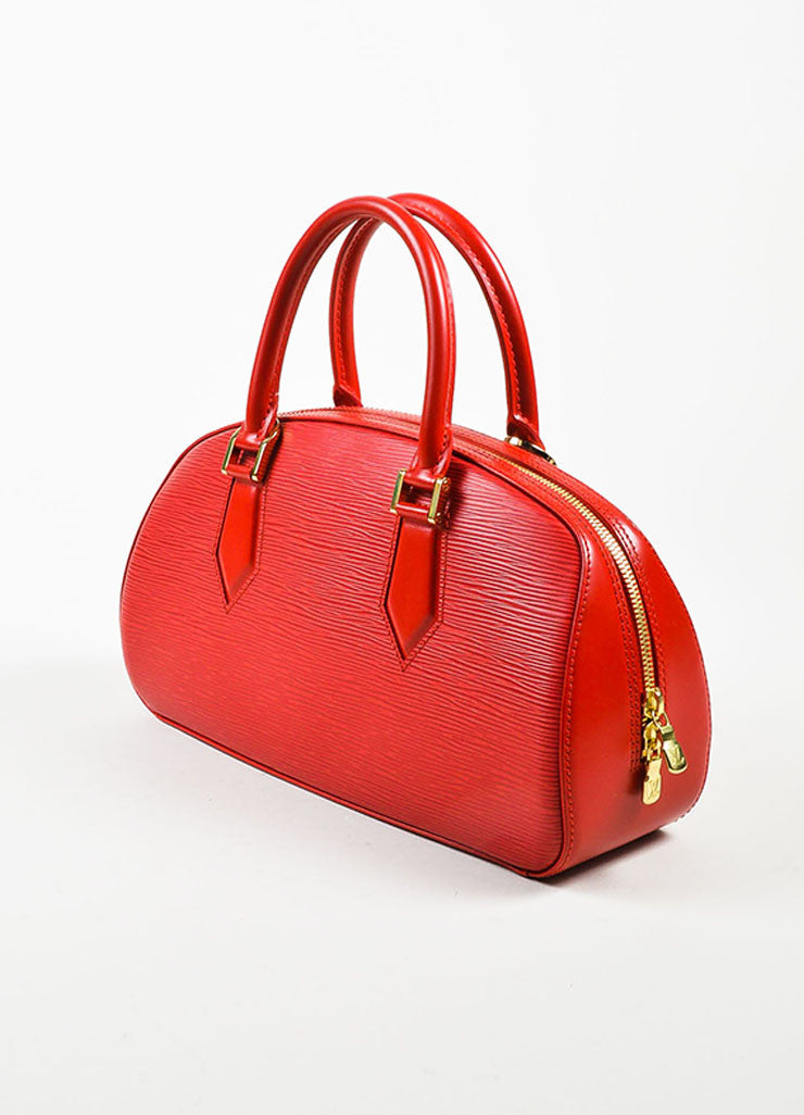 "Louis Vuitton Red Epi Leather ""Jasmin"" Handbag Sideview"