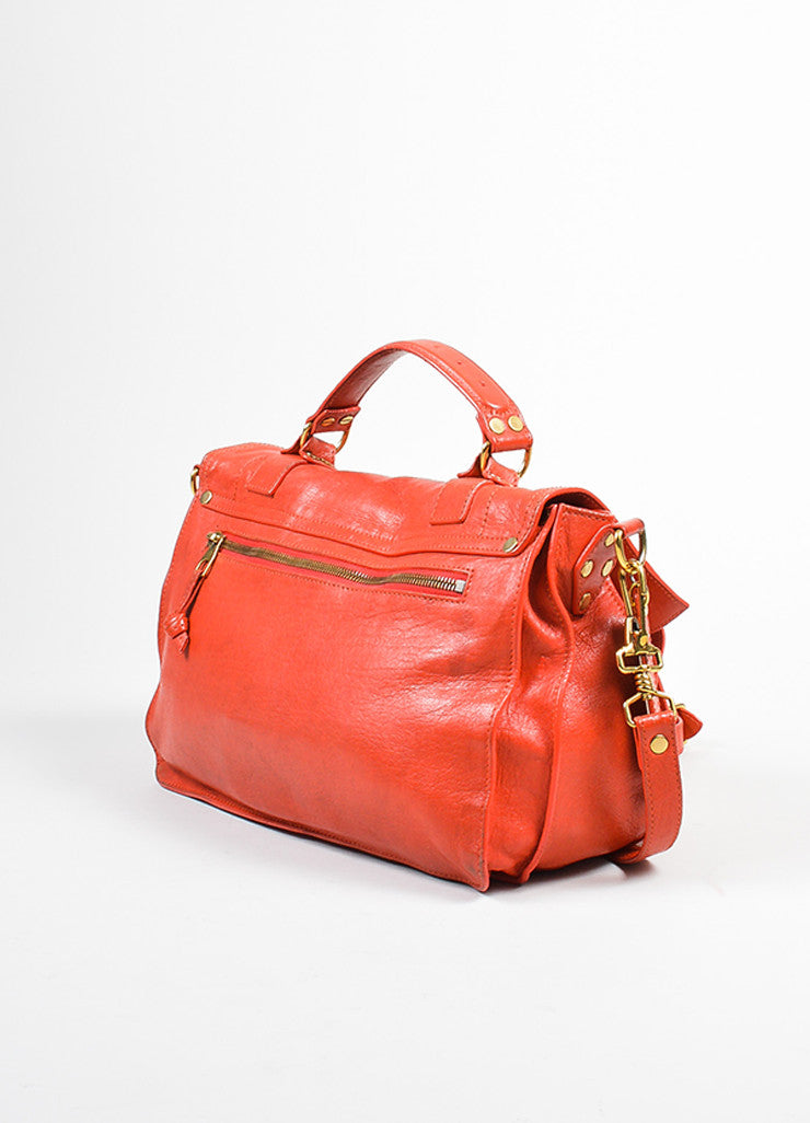 Red Proenza Schouler Leather Medium PS1 Satchel Bag Sideview