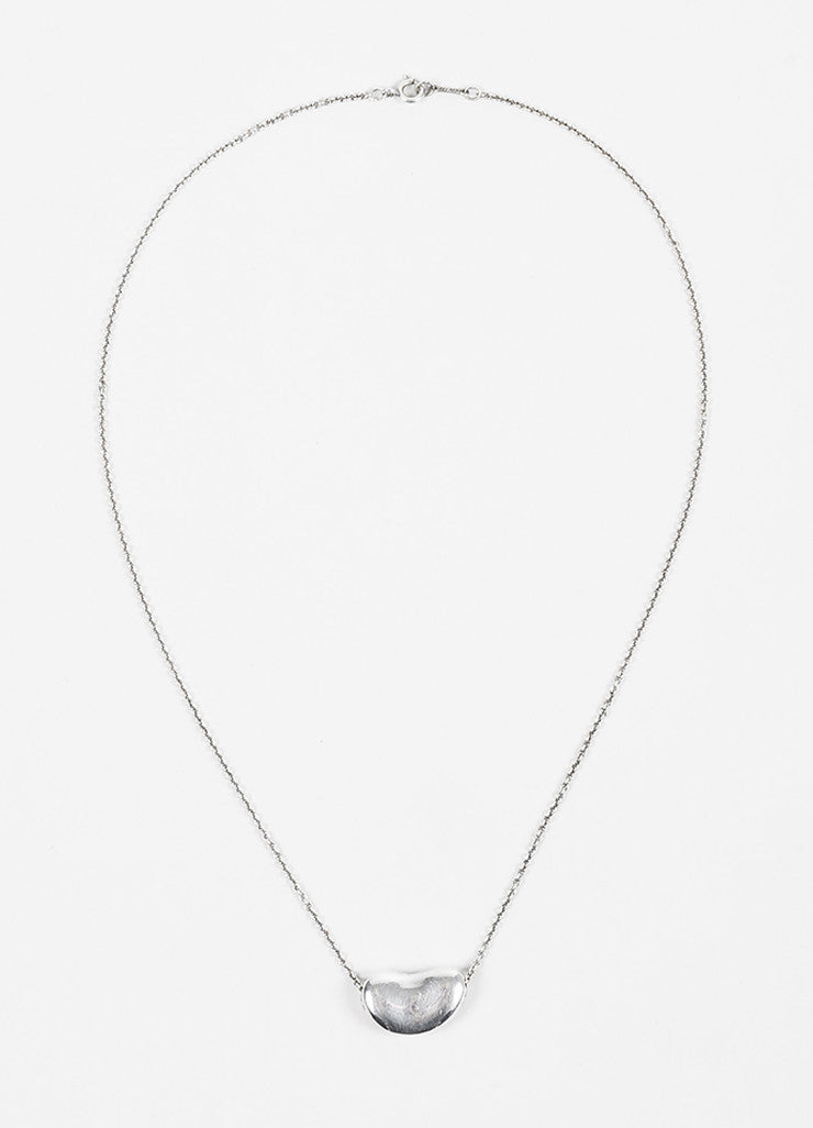 "Tiffany & Co. Sterling Silver ""Bean"" Necklace Frontview"
