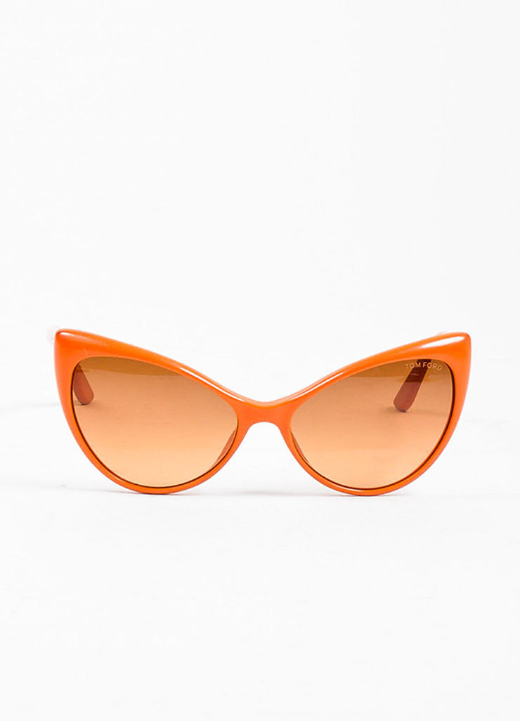 "Orange Tom Ford Acetate Gradient Tint Cat Eye ""Anastasia"" Sunglasses Frontview"