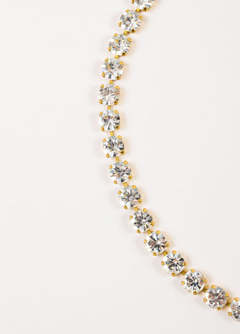Chanel Gold Toned Crystal Rhinestone 'CC' Body Chain Belt Detail