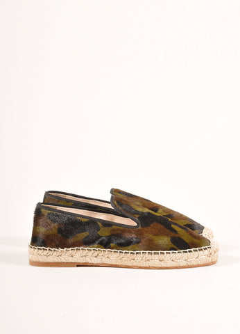 Elyse Walker New In Box Camo Print Pony Hair Espadrille Flats Sideview