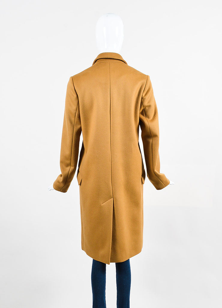 "Camel Tan Isabel Marant Wool and Cashmere ""Carlen Caban"" Coat Backview"
