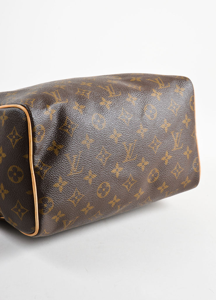 "Louis Vuitton Brown Monogram Canvas 25cm ""Speedy"" Bag Bottom View"