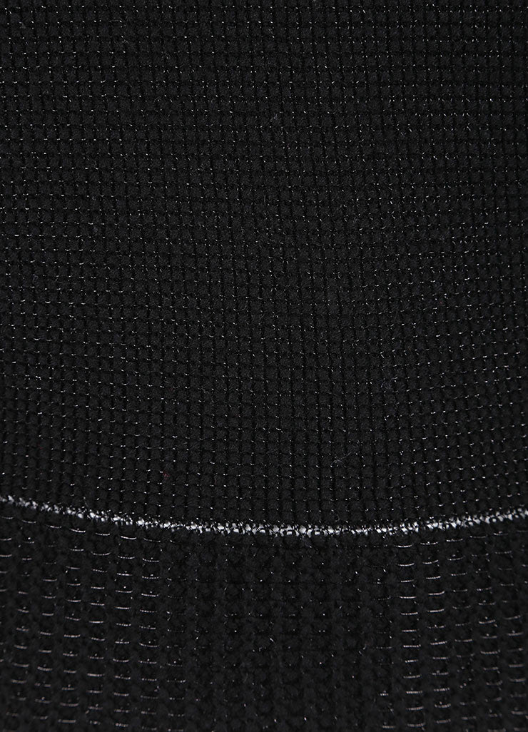 Ohne Titel New With Tags Black Metallic Knit Cropped Sweater Detail