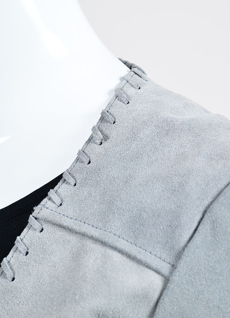"The Perfext Grey Suede Stitched ""Christy"" Fringe Jacket Detail"