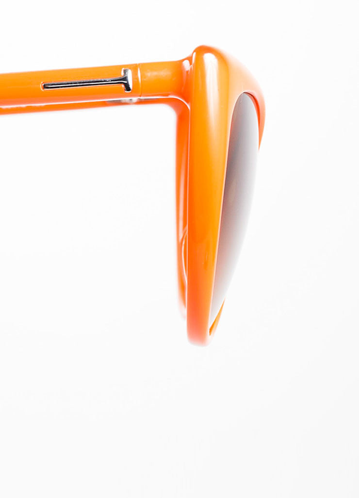 "Orange Tom Ford Acetate Gradient Tint Cat Eye ""Anastasia"" Sunglasses Detail"