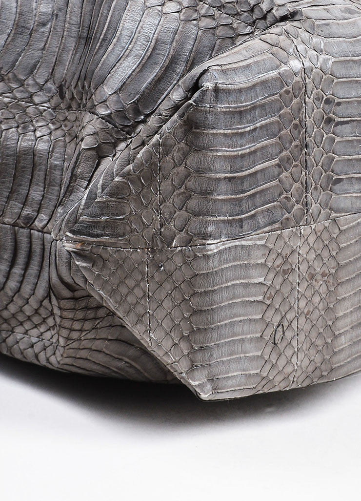 Grey Adriana Castro  Python Oversized Hobo Bag Detail