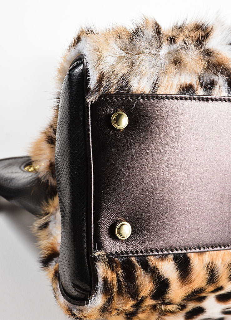 "Cartier Multi-Brown Leopard Print Goat Fur ""Marcello de Cartier"" Bag Detail"