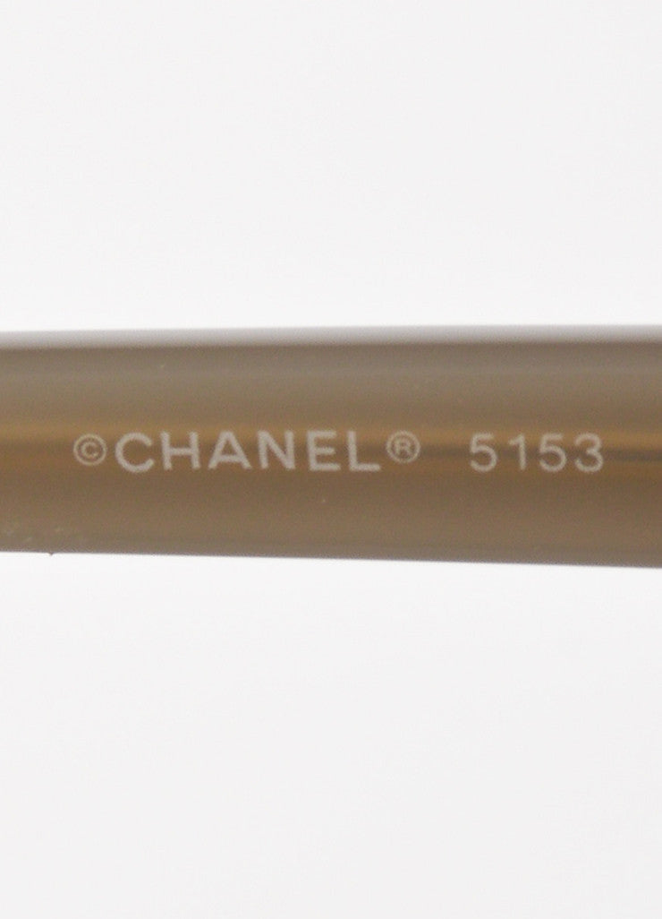 "Chanel Black and Taupe Plastic Gradient Lens ""5153"" Sunglasses Brand"