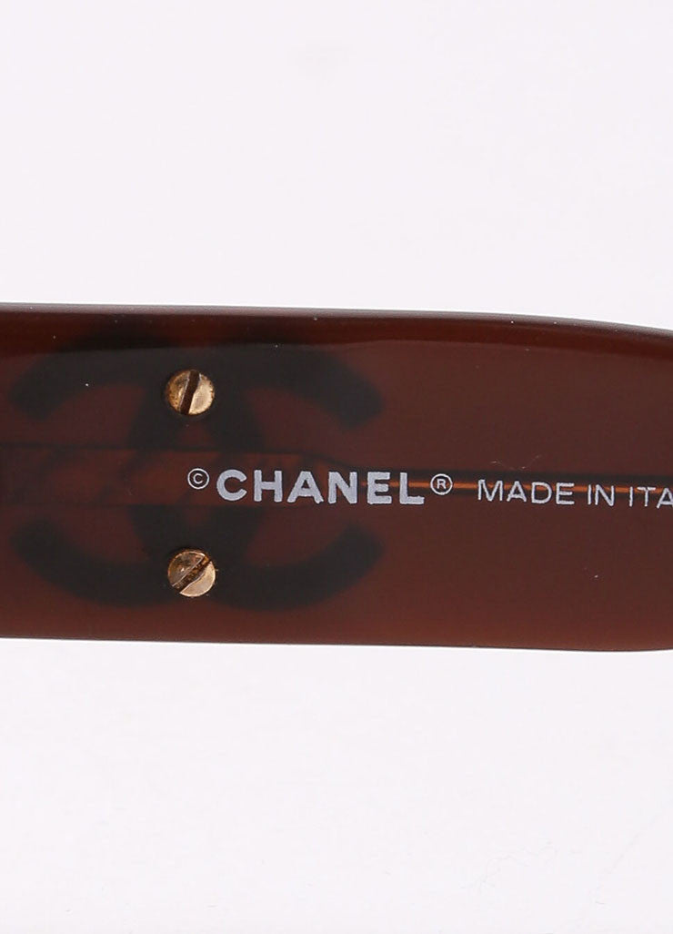 "Chanel Brown Translucent Oval ""CC"" Logo ""5102"" Sunglasses Brand"