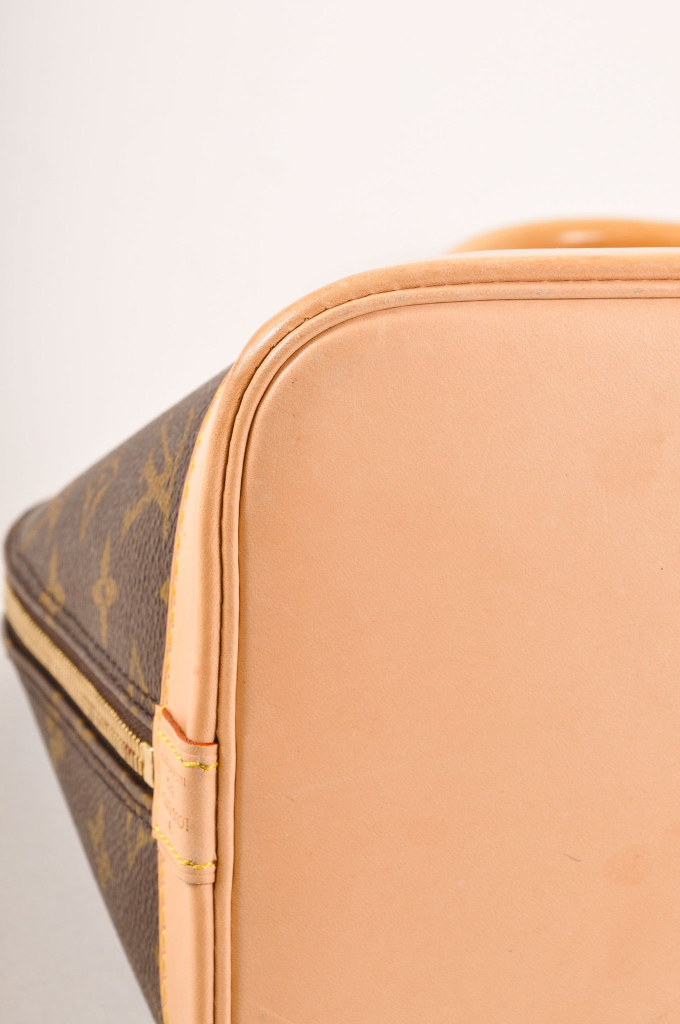 "Louis Vuitton Brown Monogram Canvas ""Alma PM"" Handbag Detail"