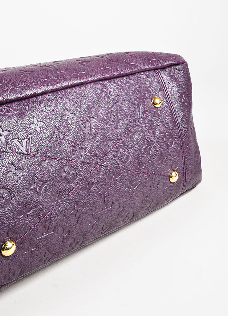 Louis Vuitton Aubergine Purple Monogram Empreinte Leather Artsy MM Bag Detail 2