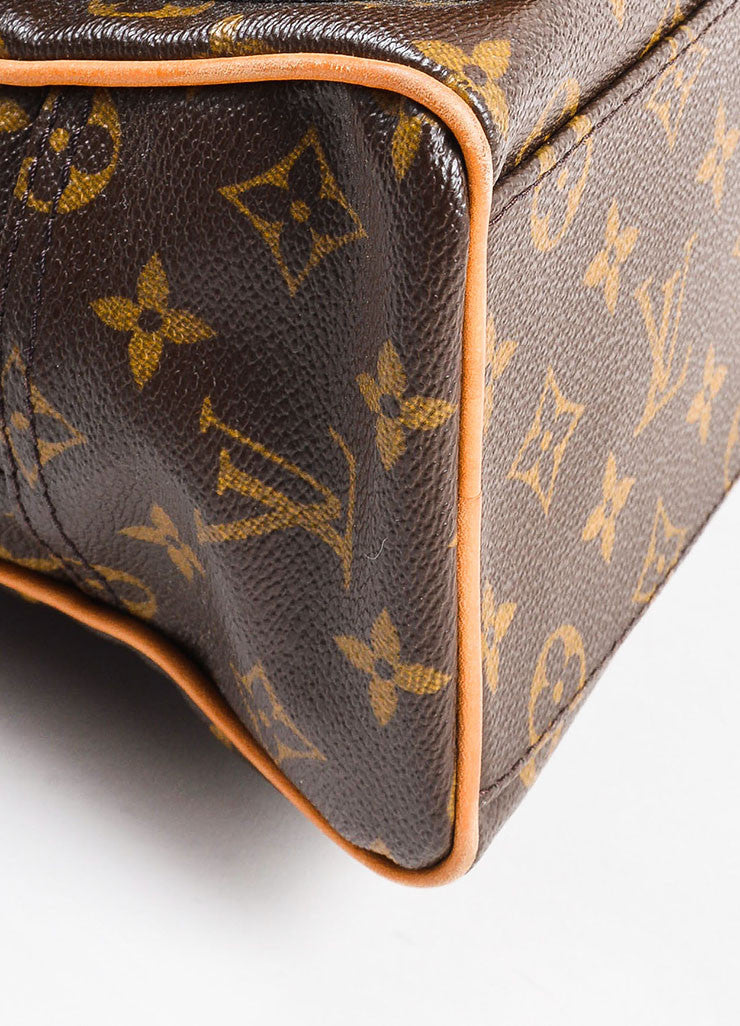 "äó¢íšíóLouis Vuitton Brown and Tan Coated Canvas Monogram ""Manhattan PM"" Satchel Bag Detail"