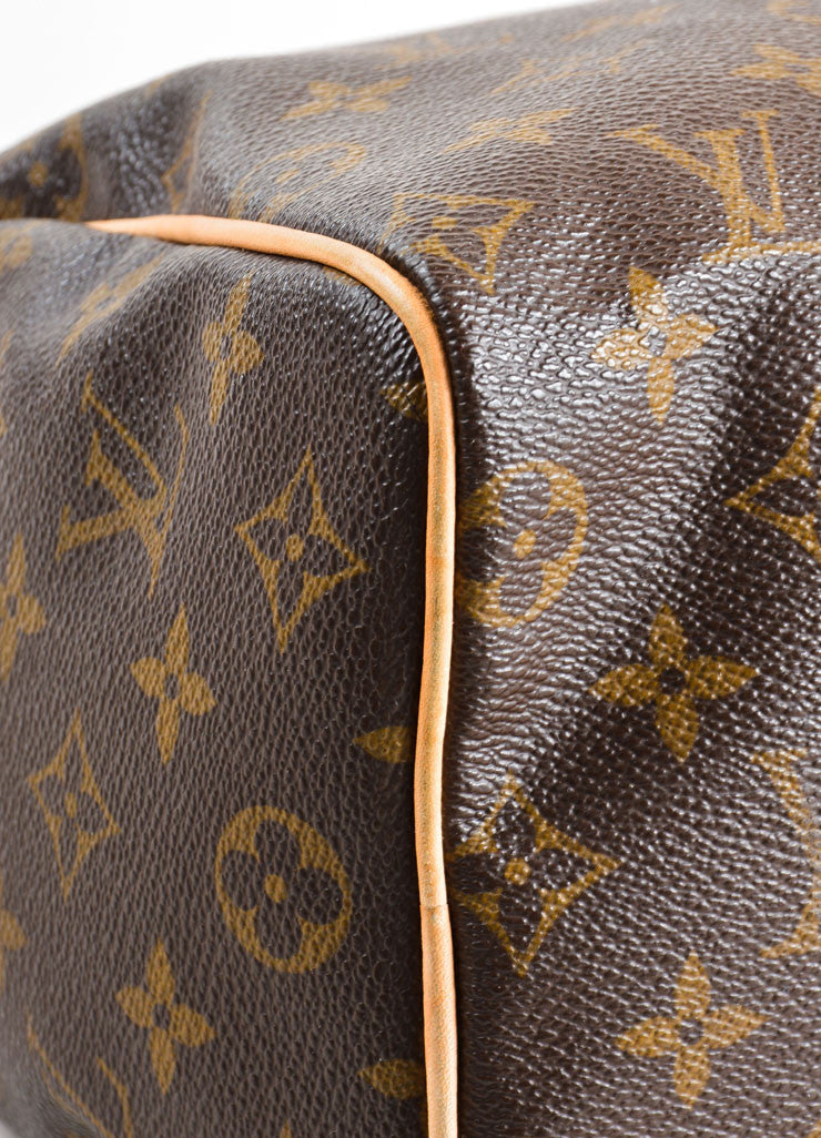 "Louis Vuitton Brown Monogram Canvas 25cm ""Speedy"" Bag Detail"