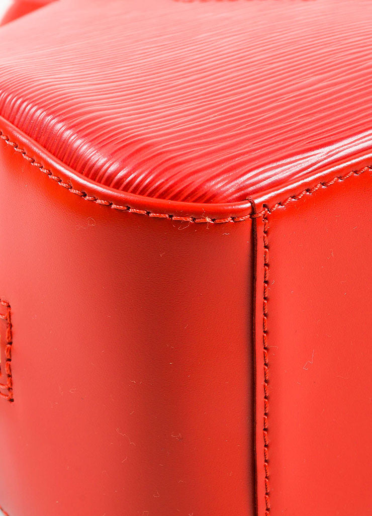 "Louis Vuitton Red Epi Leather ""Jasmin"" Handbag Detail"