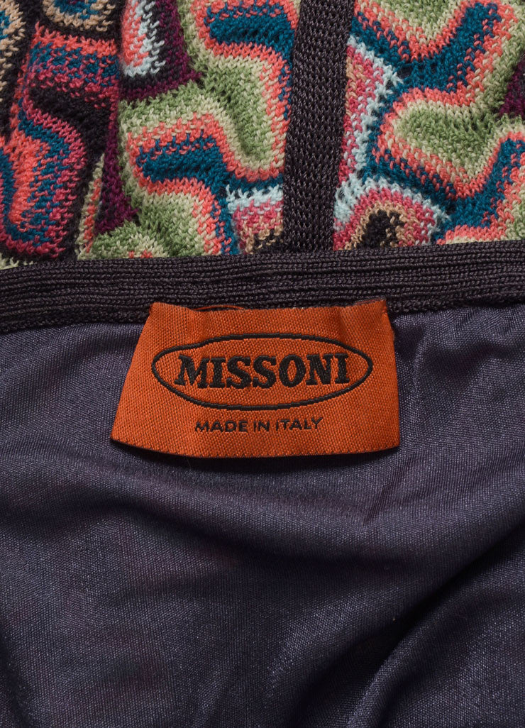 Missoni Grey, Pink, and Blue Knit Woven Print Skirt Brand