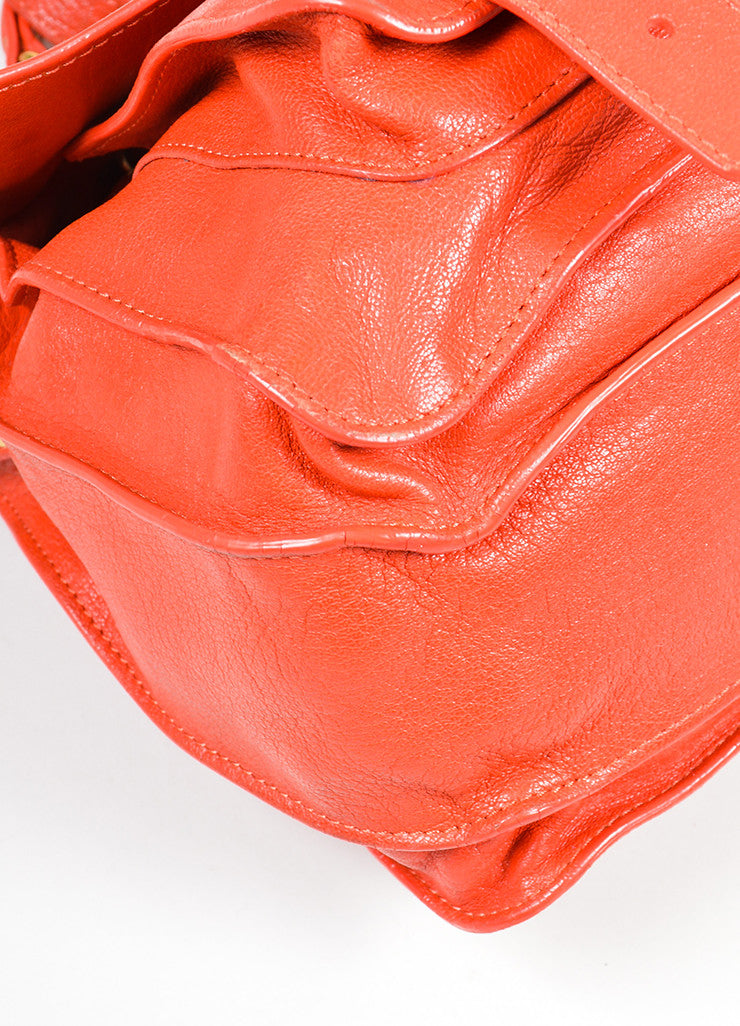 Red Proenza Schouler Leather Medium PS1 Satchel Bag Detail