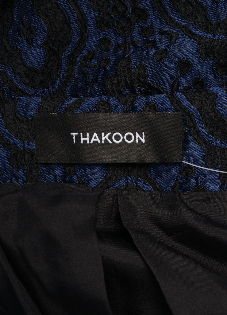 Thakoon Blue and Black Brocade Bubble Skirt Brand
