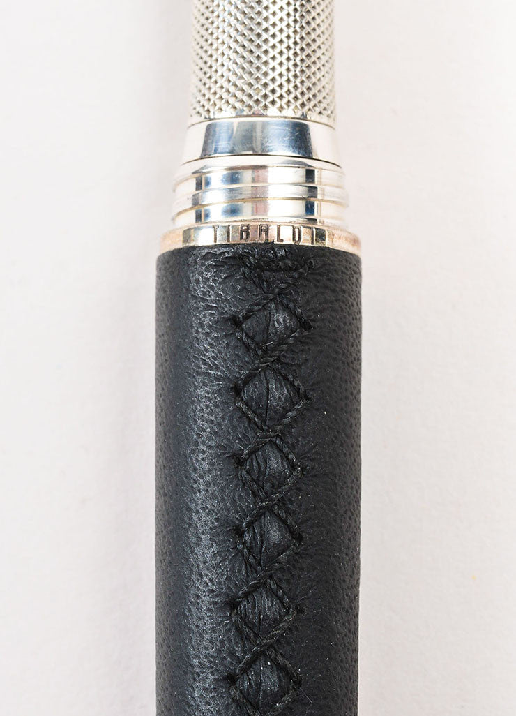 "Tibaldi x Bentley ""Azure"" Black Sterling Silver 18K White Gold Fountain Pen Detail"