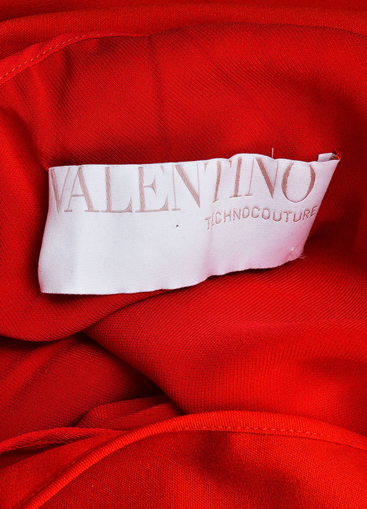 Red Woven Valentino Couture One Shoulder Short Dress Brand