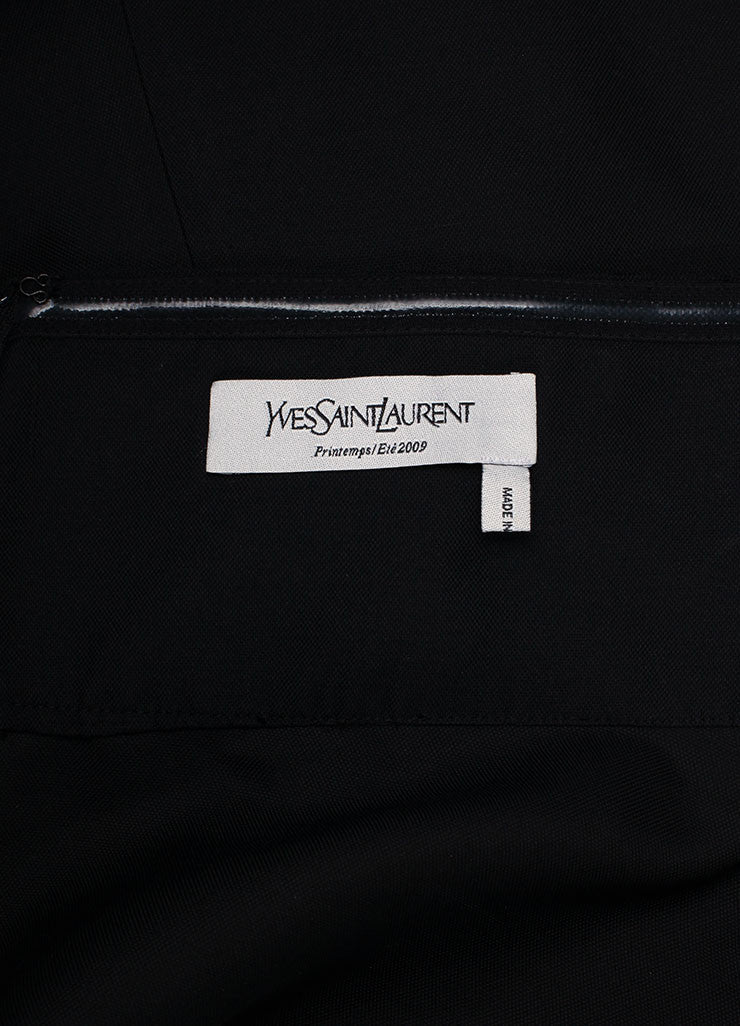 Yves Saint Laurent Black Silk A-Line Pleated Skirt Brand