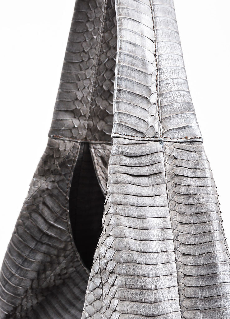 Grey Adriana Castro  Python Oversized Hobo Bag Detail 2