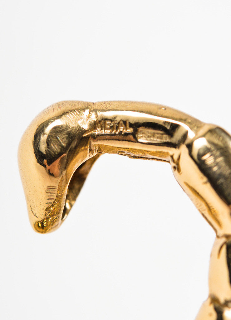 Bernard Delettrez Gold Toned Bronze Scorpion Statement Ring Brand