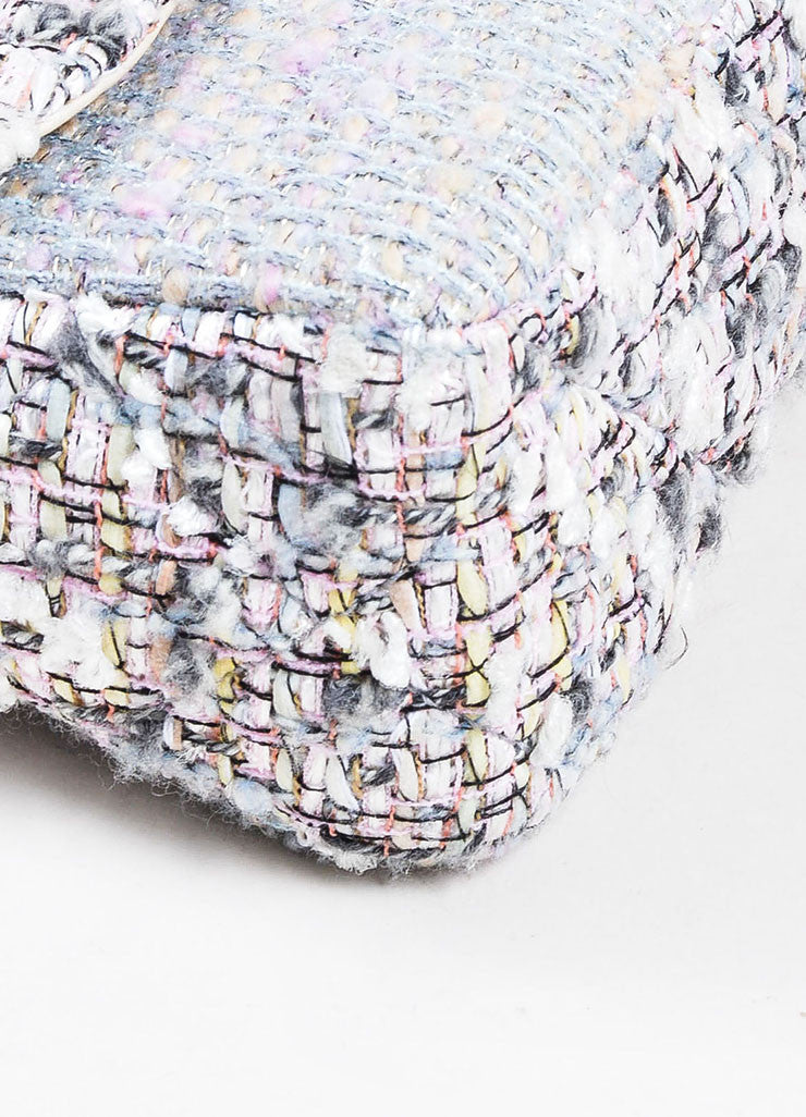 "Multicolor Chanel Pastel Tweed Classic ""Fantasy"" 'CC' Bag Detail"