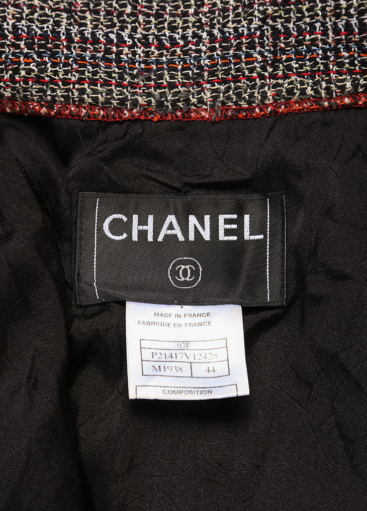 Chanel Black and Red Cotton Blend Tweed Three Piece Pant Suit Brand 2