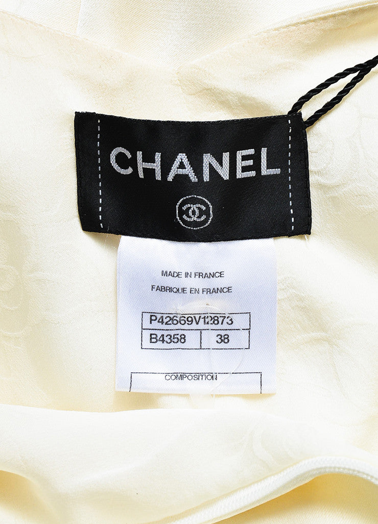 Chanel Black and White Silk Color Block Layered and Triple Split Gown Brand